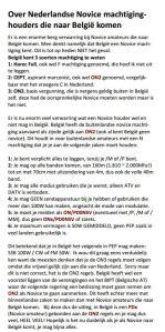 novice in belgie
